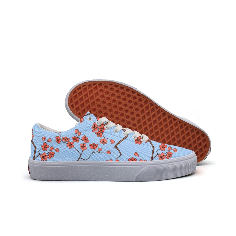 SERXO Cherry Sakura Blossoms Skating Shoes for Women Coach Sneakers