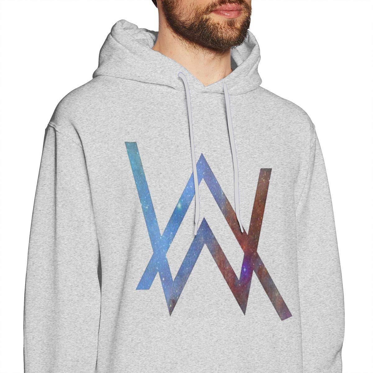 Mens Hooded Sweatshirt Alan Walker Nordic Winter Personality Wild Lion Head Gray