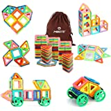 Magnetic Building Blocks Magnet Tiles Set Educational Stacking Toys By Mibote-45 pcs