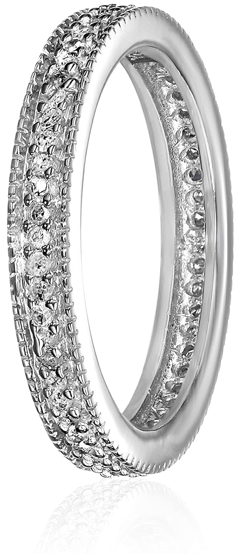 Jewelry & Watches White Diamond Bridal Set 2.38 Ct Princess Diamond Black Sterling Silver Ring Yet Not Vulgar