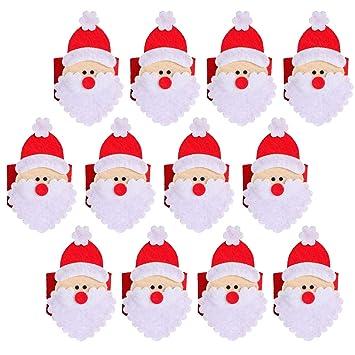 THEE 4pcs Decoración de Tabla Servilleta Anillos Servilletero de Toalla para Navidad (12pcs): Amazon.es: Hogar