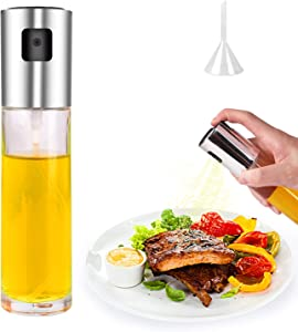 Oil Sprayer for Cooking, Kmeivol Olive Oil Sprayer Mister, 100ml Food-Grade Olive Oil Sprayer, Olive Oil Spray with Extended Nozzle, Multi-purpose Oil Spray Bottle for Cooking, Roasting, BBQ, Baking