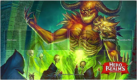 Hero Realms Journeys KS exclusive Ruinos Archpriestess Playmat White Wizard