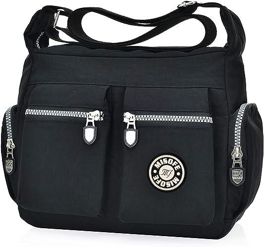 Ladies New Fashion Multi Pockets CrossBody Bag Women/'s Messenger Shoulder Bag UK