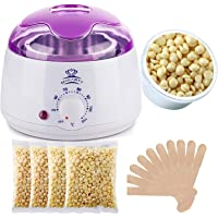 MAKARTT Wax Warmer, Electric Hair Removal Waxing Kits with 4 Flavor Wax Beans (400G) and Wax Applicator Sticks, Hair Wax Removal for Women or Men, Painless Rapid Waxing