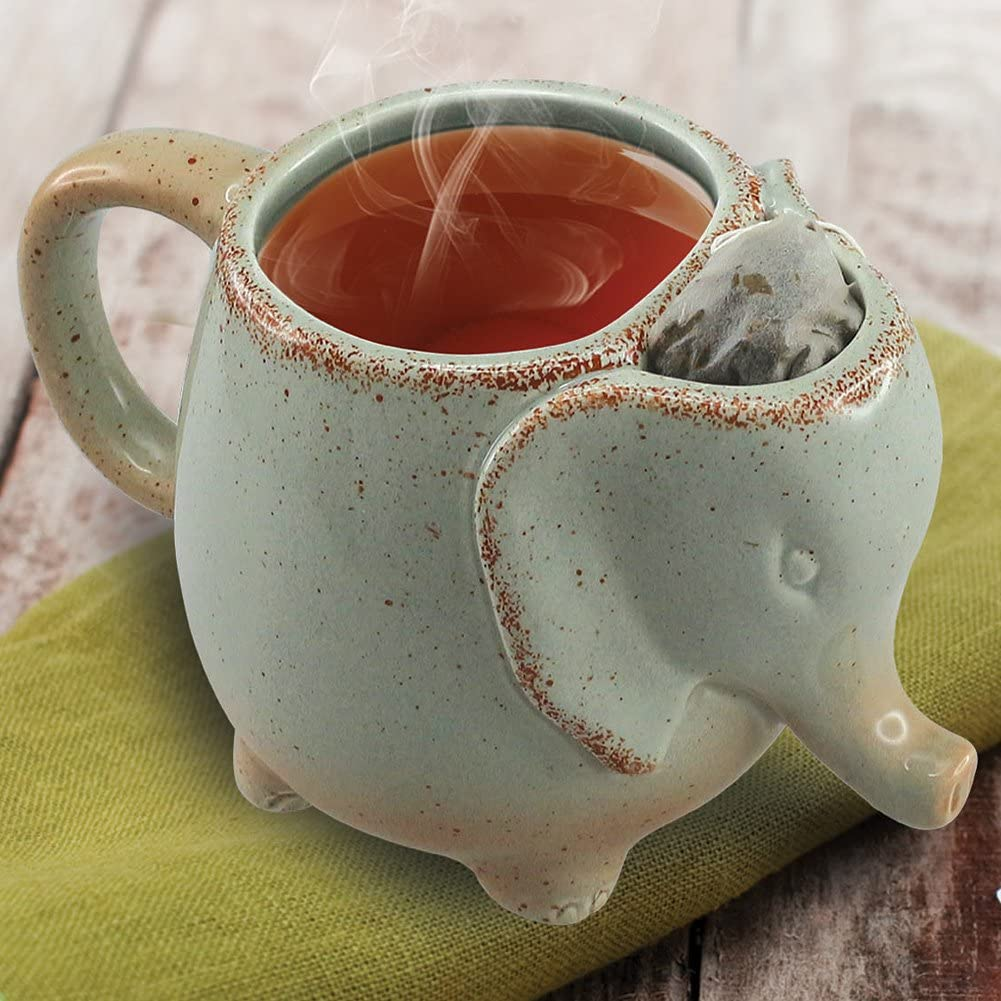 Volar Ideas 15oz Elephant Tea Mug Green