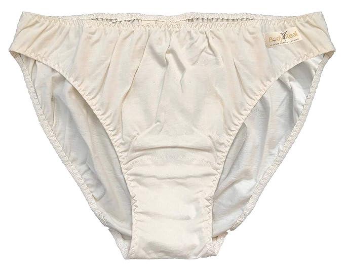 Braguitas de bikini de algodón orgánico certificadas para mujeres extra grandes: Amazon.es: Ropa y accesorios