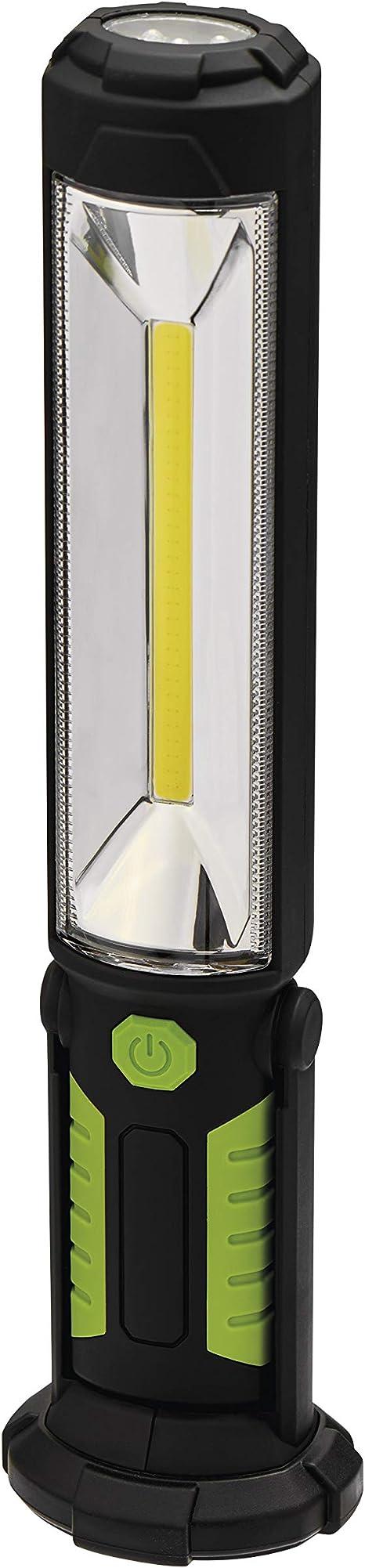 Emos Cob Led Aufladbare Arbeitsleuchte Werkstattlampe Mit Magnet Und Haken 500 Lumen 30m Leuchtweite Stoß Und Wasserbeständig Ip43 Beleuchtung