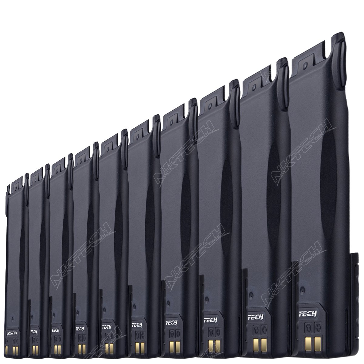 10-Pcs NKTECH BL-8 4200mAh Extended 7.4V Li-ion Battery For BaoFeng Pofung UV-82 UV-82HP UV-82C UV-82L UV-82X Ham Two Way Radio Transceiver Batteries Accessories Warranty