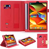 Lenovo Yoga Tab 3 Plus/Lenovo Yoga Tab 3 Pro 10 X90F YT3-X703F 10.1 Case,Premium PU Leather Folio Cover for Lenovo Yoga Tab 3 Plus 10.1/Lenovo Yoga Tab 3 Pro 10.1-Inch Tablet (red)