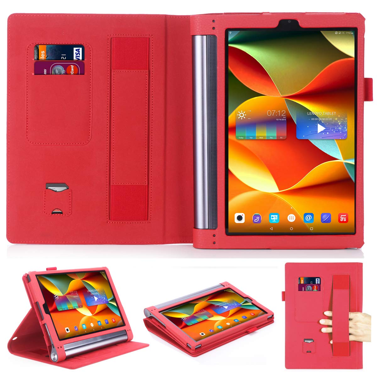 Lenovo Yoga Tab 3 Plus/Lenovo Yoga Tab 3 Pro 10 X90F YT3-X703F 10.1 Case,Premium PU Leather Folio Cover for Lenovo Yoga Tab 3 Plus 10.1/Lenovo Yoga ...