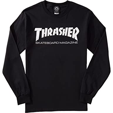 985abd767 Amazon.com: Thrasher Skate Mag Long Sleeve T-Shirt - Black - MD ...