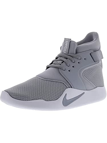 Nike Men s Incursion Mid Wolf Grey   - White High-Top Basketball Shoe ... c51552c2a1e