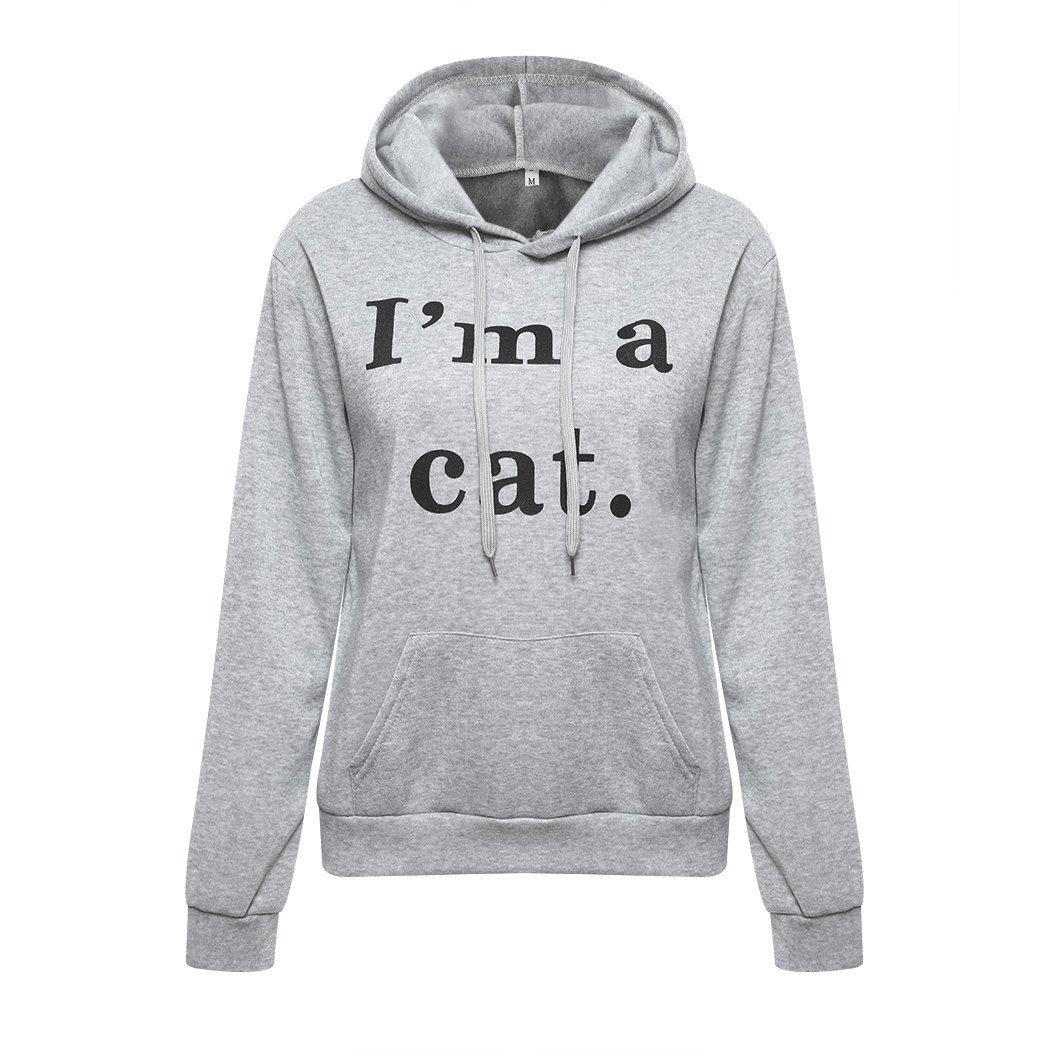 Halloween Cat and Bats Teen Hooded Sweatshirt Pullover Drawstring Pocket Stylish Sports Shirt for Teen