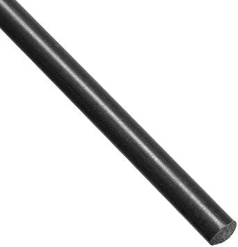 """Delrin//Acetal Rod Black 1/"""" diameter 6/"""" long"""