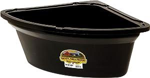 Little Giant Plastic Corner Feeder Bucket (Black) Durable & Useful Space Saving Corner Feed Trough (26 Quart) (Item No. PCF6BLACK)