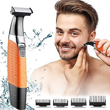 Maquinilla de afeitar eléctrica, cortapelos para hombres, kit de ...