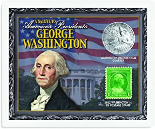 product image for American Coin Treasures Kids - A Salute to America's Presidents - George Washington Coins & Stamps