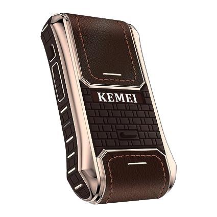 Kemei 2 en 1 hombres afeitadora eléctrica funda de piel Para Sierra  Eléctrica Máquina de afeitar 918a889ba987