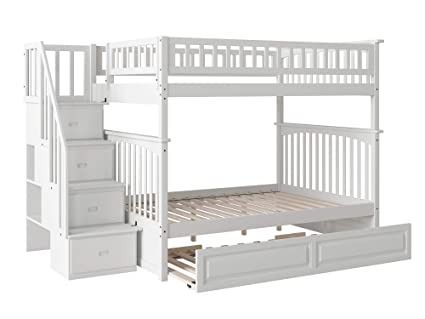 Amazon Com Columbia Staircase Bunk Bed With Trundle Bed Full Over