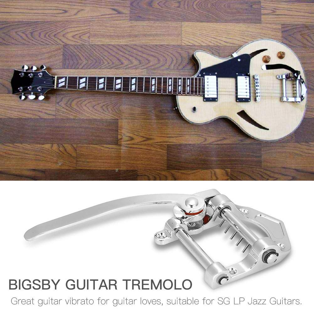 Dilwe Bigsby Vibrato Tailpiece Trémolo para SG LP Jazz Guitarras Accesorio de Instrumento Musical(Plata): Amazon.es: Deportes y aire libre