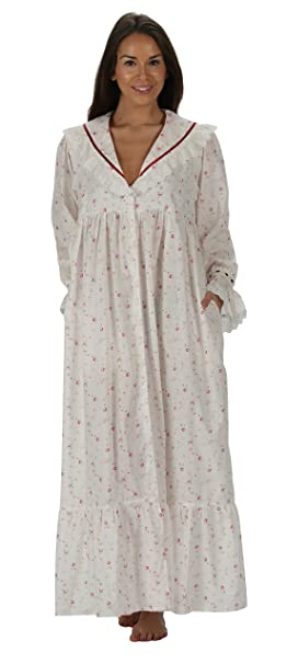 Victorian Nightgowns, Nightdress, Pajamas, Robes The 1 for U Amelia 100% Cotton Victorian Nightgown With Pockets 7 Sizes $39.99 AT vintagedancer.com