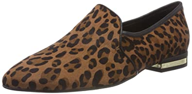 KAREN MILLEN Fashions Limited Slip-on Loafer, Mocasines para Mujer, (Leopard Print