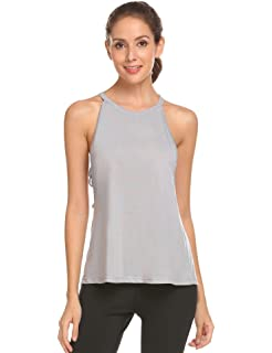 a9a416001def Imposes Damen Top Yoga Sport Gym Sporttop Ärmellos Shirt Fitness Camisole  Sommer Racerback Trägertop Sommertop