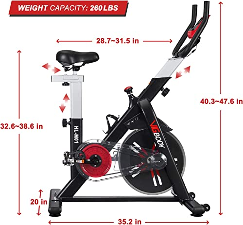 VIGBODY Exercise Bike Stationary Indoor Cycling Bike