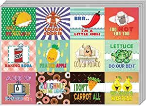 Creanoso Hilarious Delicious Food Puns Stickers (20-Sheet) – Funny Gift Stickers for Kids – Awesome Stocking Stuffers Gifts for Boys & Girls, Children, Teens – Wall Table Surface Décor Art Decal