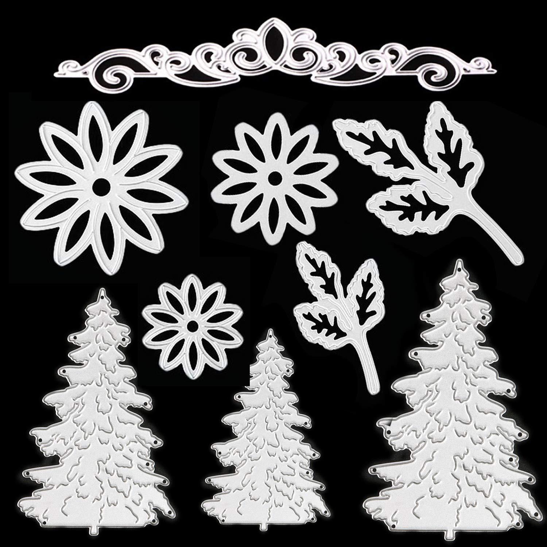 Stanzschablone Kante Blume Weihnachten Stanzform Scrapbook Karte Album DIY