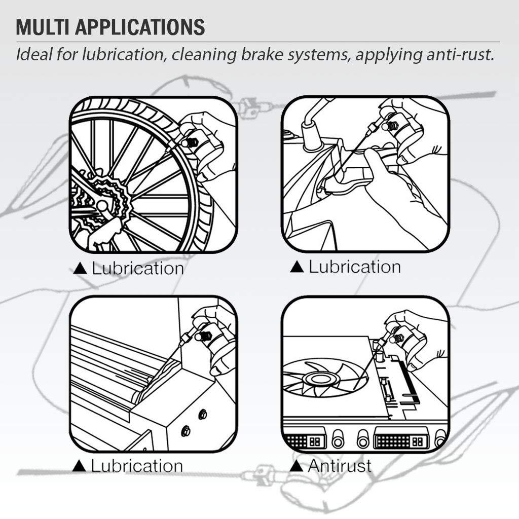FIRSTINFO Pulverizador recargable de Aluminio para neum/ático//manual con 4 boquillas de 2 v/ías 0,5 mm, 1,0 mm, 1,5 mm