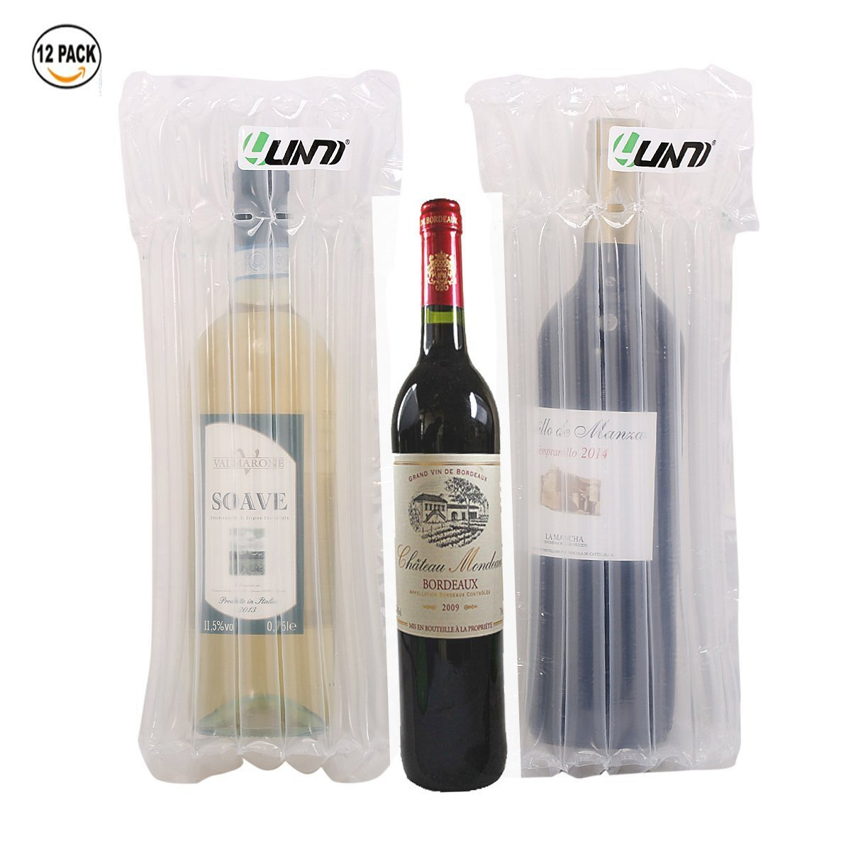 Air filled Protective Cushion Wine Wrapp ,Yuanj 12pcs Inflatable Air Packaging Protective Cushioning Bubble Pack Wrap For Wine Packaging