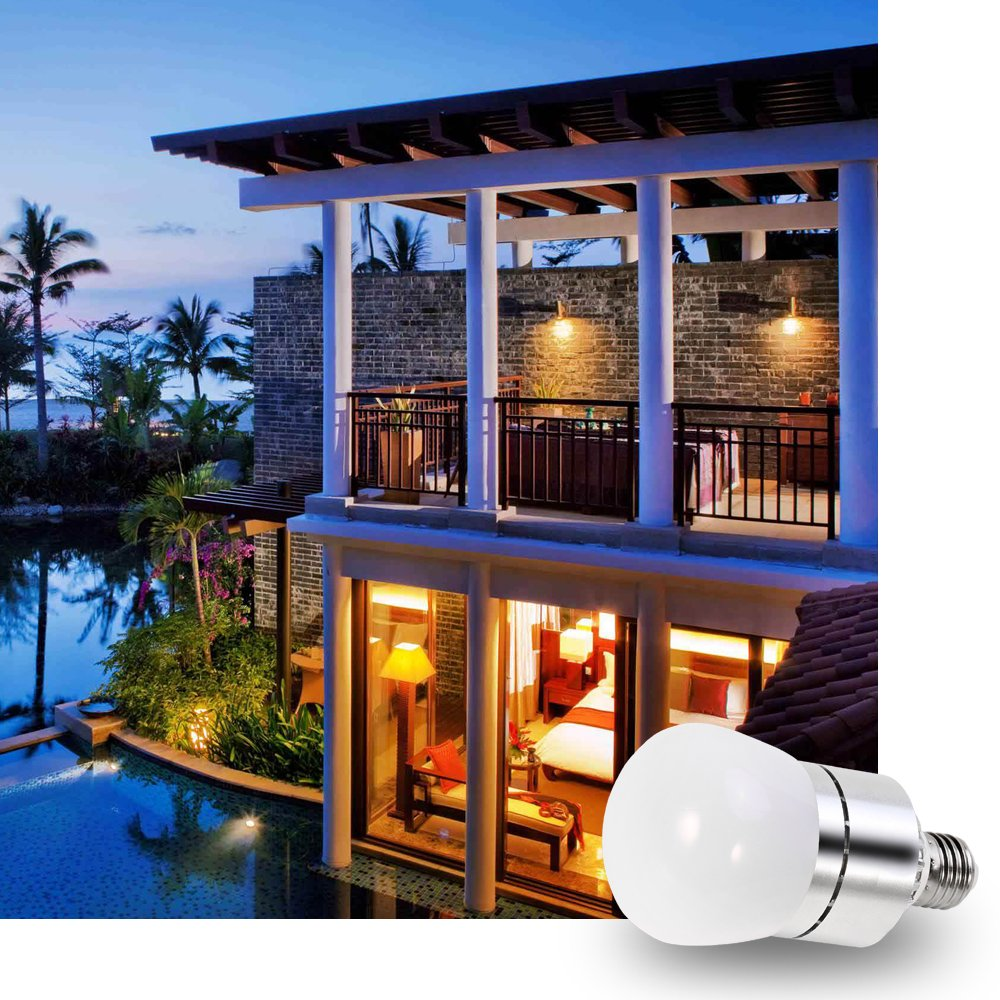 LED Light Bulbs Dusk to Dawn Sensor Lights Bulb Smart Lighting Lamp 12W 1200LM E26/E27 Socket 3200k Auto On/Off Indoor Outdoor Security Light for Porch, Garage, Driveway, Yard, Patio (Warm White) by Vgogfly (Image #7)