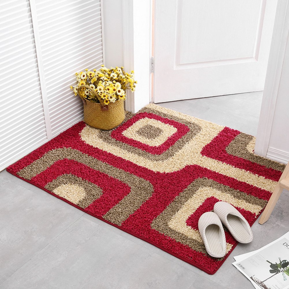 Red E 100x120cm(39x47inch) Doormat,Front Entrance Door Mat No-Slipping Mat Home Decor-red 70x120cm(28x47inch)