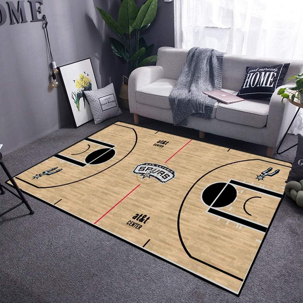 120cm ACJIA Terrain de Basket Carpettes Tapis pour Living Room Chambre Garderie Enfants D/écor Salle /à Manger Plancher Antiderapant Shag Tapis Rectangle,Heat,80