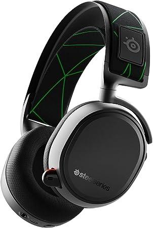 SteelSeries Arctis 9X Auriculares, Conectividad Inalámbrica y Mediante Bluetooth Incorporadas, Hasta 20 Horas de Batería, Color Negro