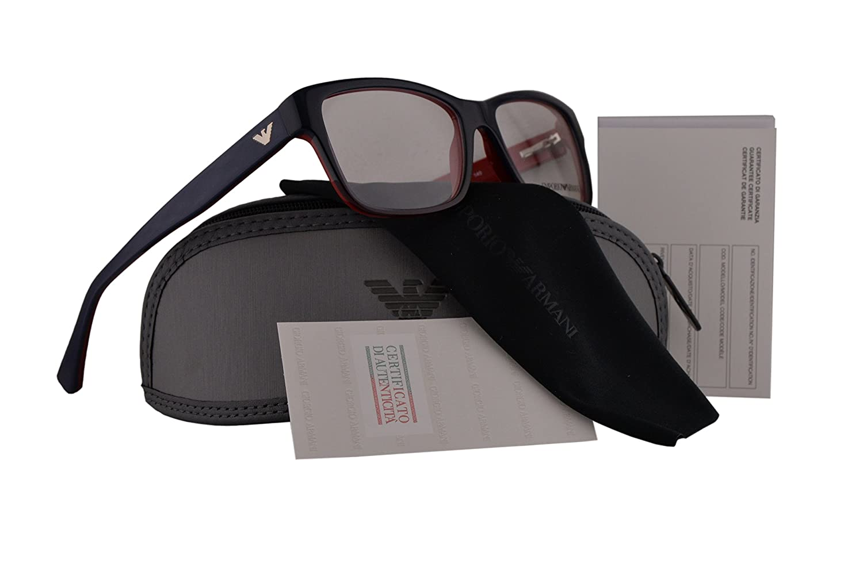 ff862f8412c5 Amazon.com  Emporio Armani EA3051 Eyeglasses 53-16-140 Blue Gradient Red On  Red 5347 EA 3051  Clothing