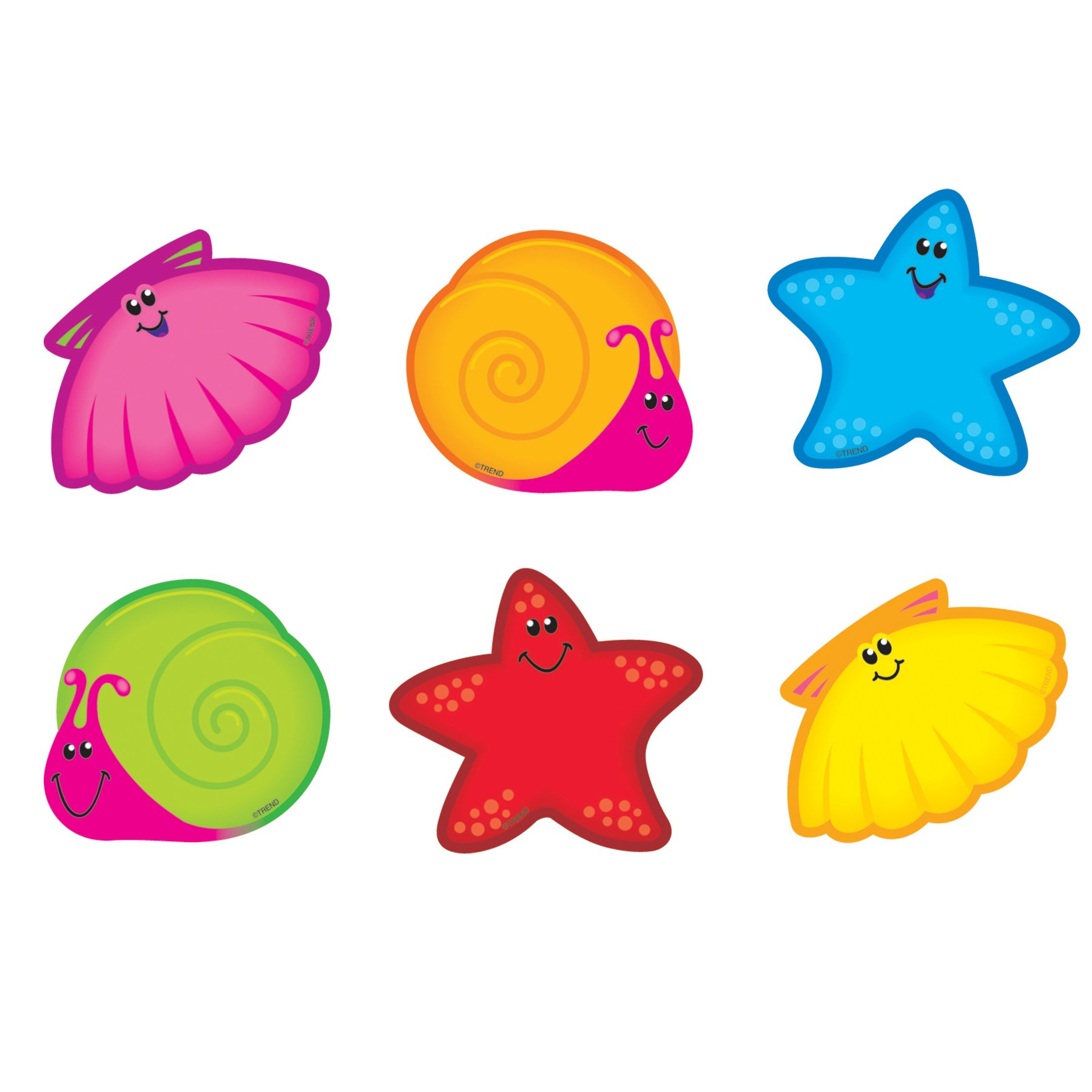 TREND enterprises, Inc. T-10806BN Seashore Friends Mini Accents Variety Pack, 36 Per Pack, 6 Packs by TREND Enterprises