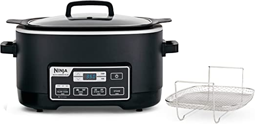 Ninja MC760 Plus 4-in-1 Multi, Stove Top, Steam, and Bake Slow Cooker System W/Triple Fusion Heat for Excellent and Healthier Cooking Performance, 6 ...