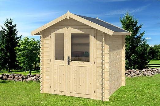 Caseta de jardín G92-28 mm, superficie de 3, 60 m2, tejado: Amazon.es: Bricolaje y herramientas