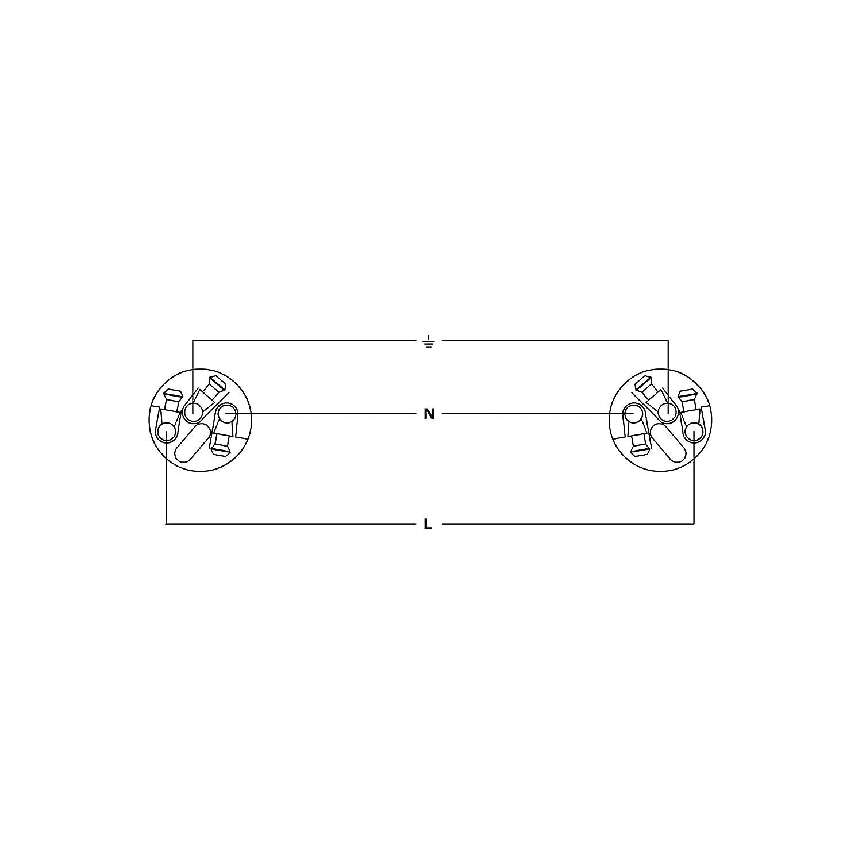 Cordial 10,0 M NEUTRIK POWERCON® CEE 7/7 GERADE CFCA 10 S-TRUE 1