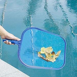 AA-SS Swimming Pool Shallow Net Fishing Net Portable Net Swimming Net Fishing Net Leaf Skimmer Cleaning Tool