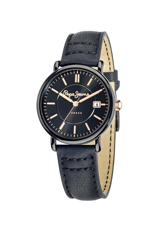 Pepe Jeans Damen-Armbanduhr MARLON Chronograph Quarz Leder R2351107003