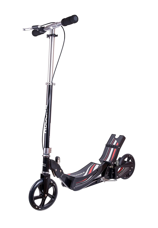 HUDORA Wipp Scooter Race Tret-Roller - 14994, schwarz HUDAC|#Hudora