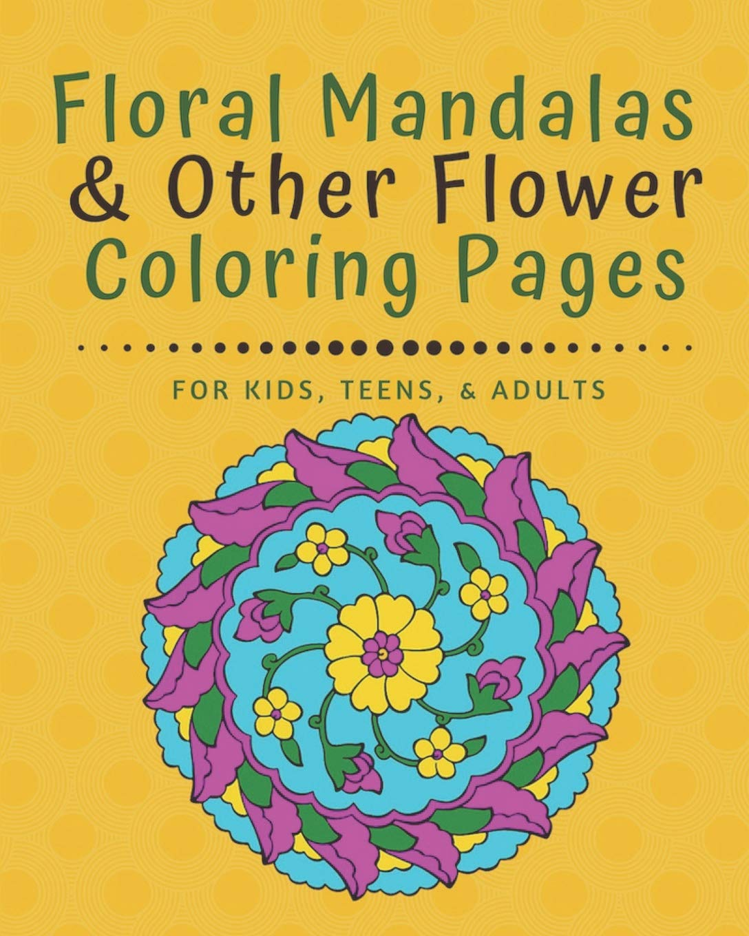 Floral Mandalas Other Flower Coloring Pages For Kids Teens