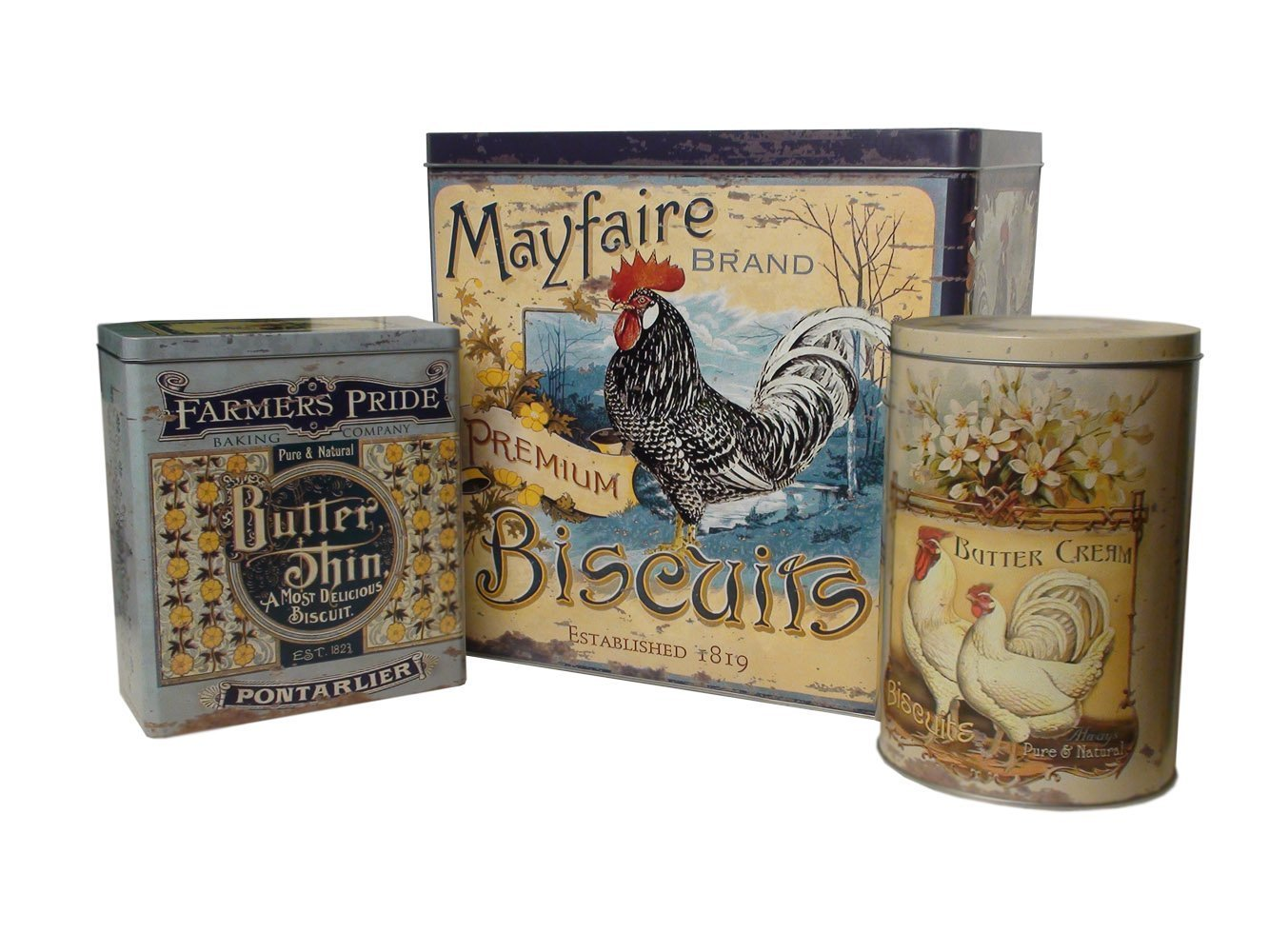 Rooster Tin Set by Ohio Wholesale B00AREUKZE