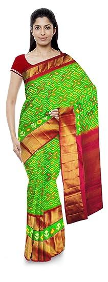 Chennakeshavulu Ikkat Pochampally Silk Saree (Ce06_Multi-Coloured)