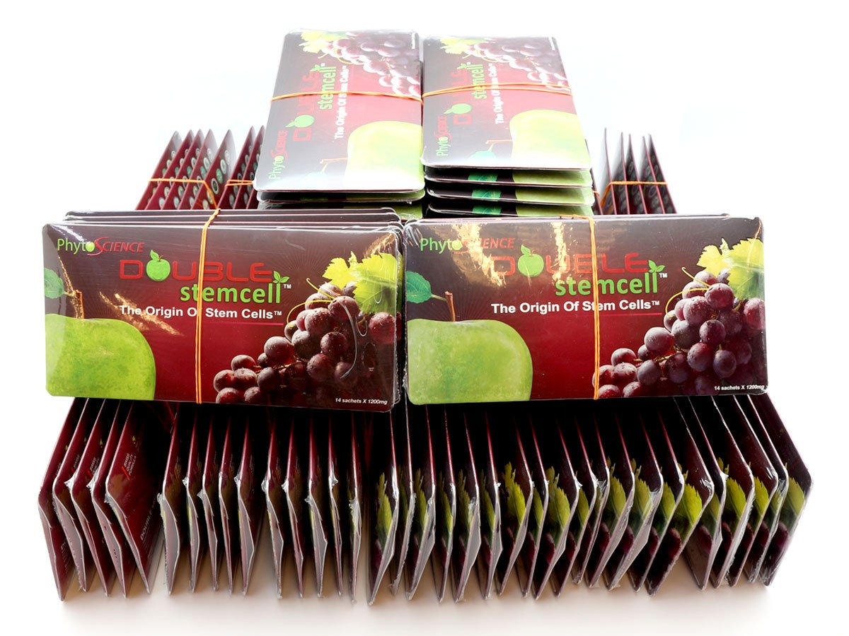 100 Pack PhytoScience Double Stemcell Anti Aging Antioxidant Product EXP05/2020 (14 Sachets per pack)