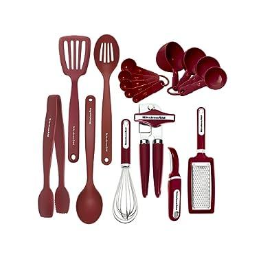 KitchenAid KC448BXERA 17-piece Tools and Gadget Set, Red